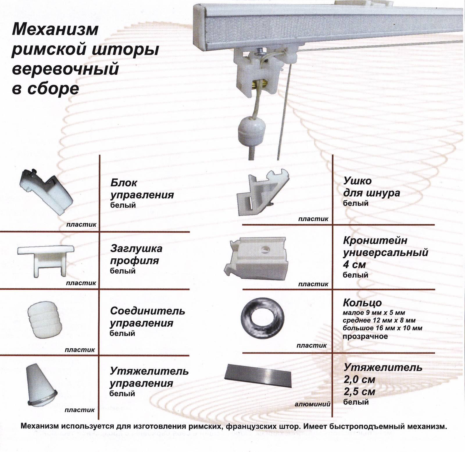 Римские шторы своими руками механизм